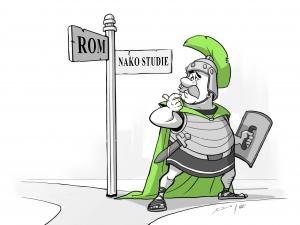 verwirrter römischer Legionär